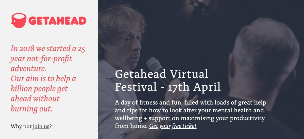 Getahead virtual festival for mental health and wellbeing